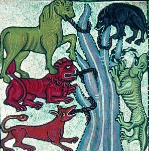 The Five Beasts Of St Hildegard And Revelation 17 The Beast With Seven Heads The Five Beasts