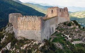 The Chateau de Montsegur, a Cathar stronghold